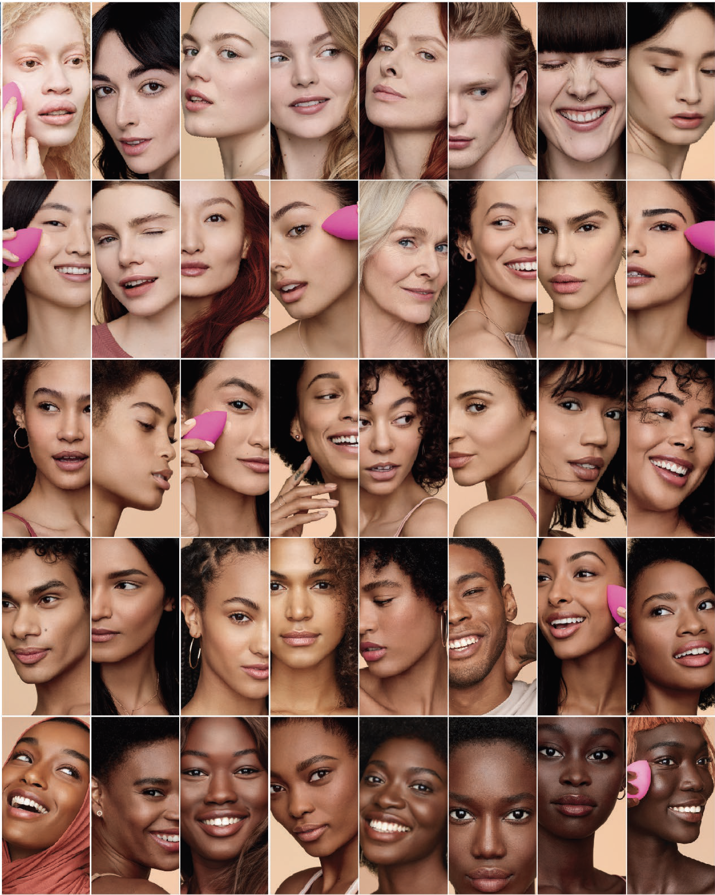 Challenge - In a post-Fenti world of color cosmetics, we wanted to create an inclusive foundation campaign that matches the founder Rea Ann Silva's vision as a celebrity makeup artist and as a woman of color.it was extremely important for us that we communicate that both innovation and diversity are the building pillars of beautyblender's brand DNA.
