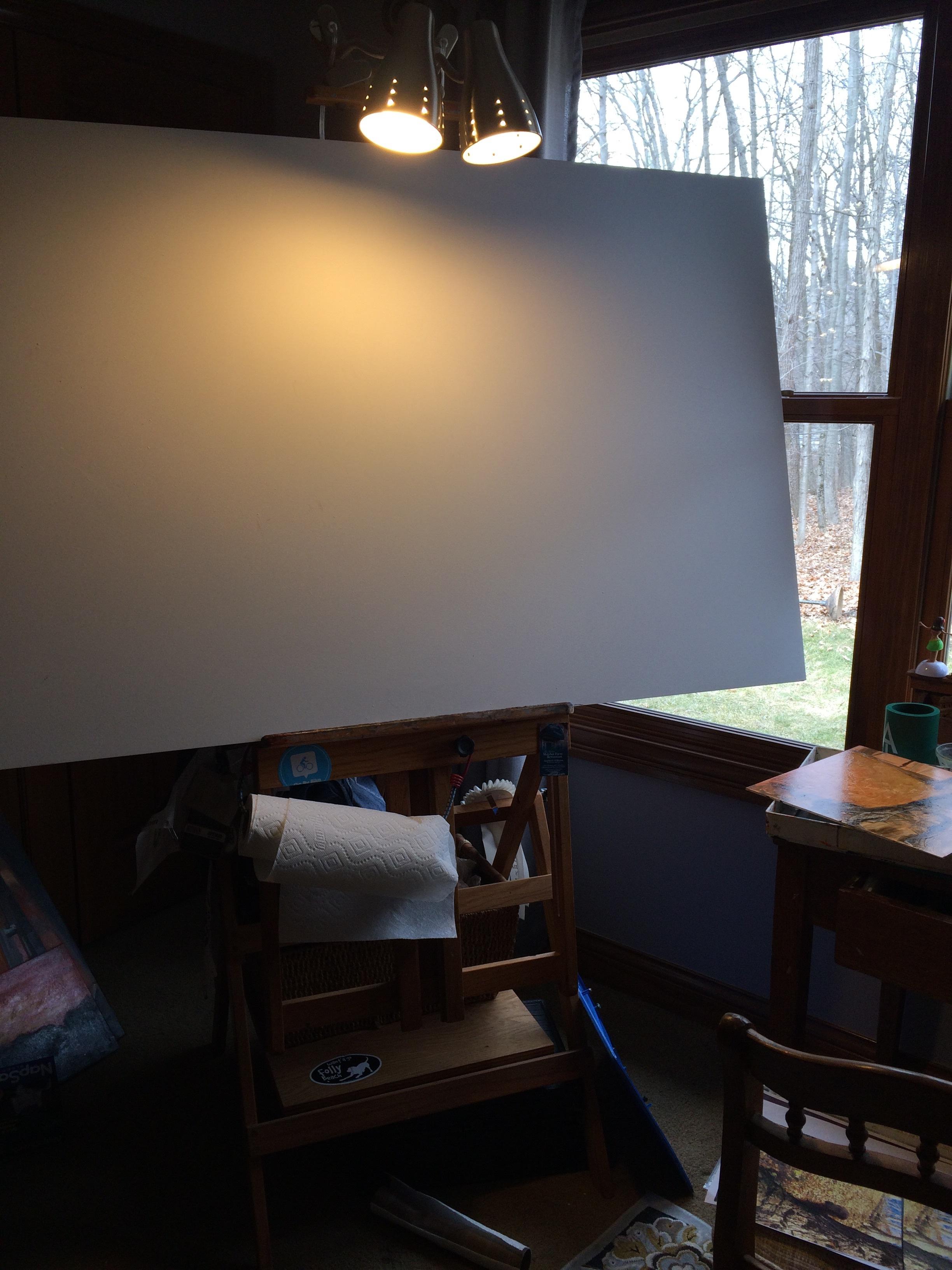 I'm not afraid of a blank canvas.
