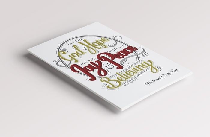 Love Custom Christmas Card two
