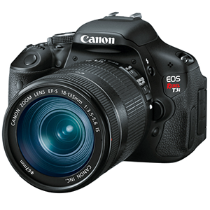 Canon EOS Rebel T3i Digital Camera Body with 18-135mm IS Lens  Daily Rental $50.00 Weekly Rental $200.00