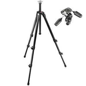 """Manfrotto 55XDB Basic Tripod (Black) with 804RC2 Head   This basic tripod is lightweight, sturdy and portable. Load Capacity 8.82 lbs. Max Height 74.8""""  Daily Rental $10.00 Weekly Rental $40.00"""