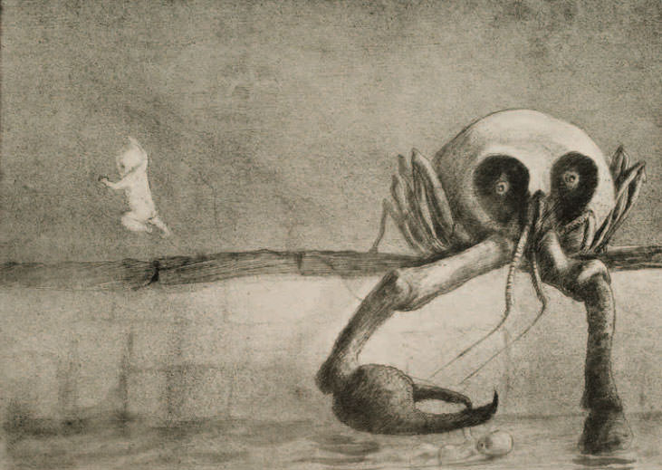 Alfred Kubin:  The Moment of Birth , 1903; Shepherd W & K Galleries