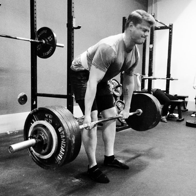 Deadling 435lb for reps. Photo credit:  Martin's instagram .