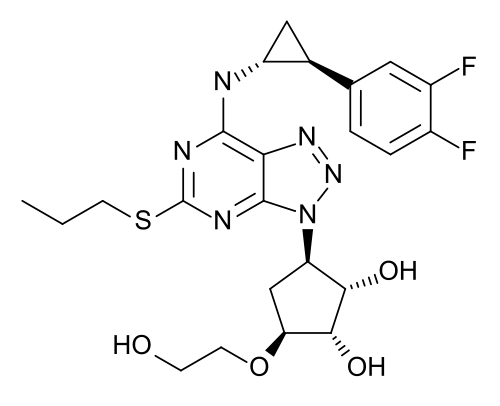 Ticagrelor - Chemical structure