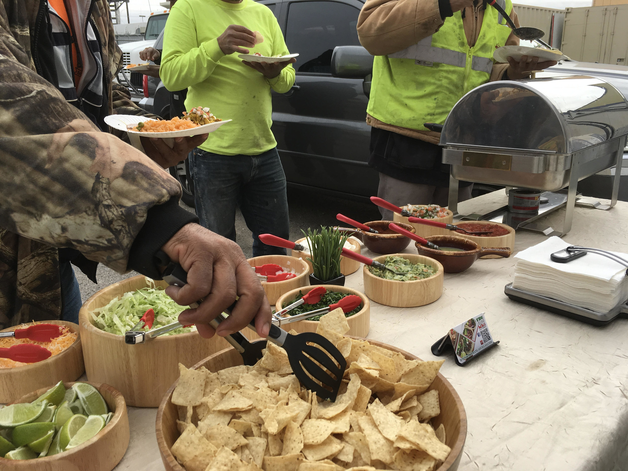 Taco Bar at Job Site in Henderson