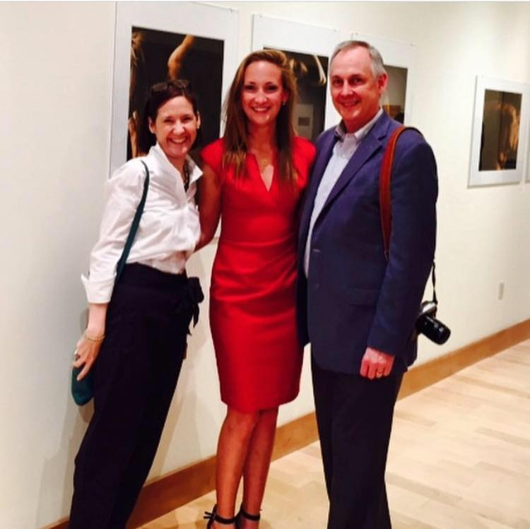 My parents and me celebrating opening night! At the Beard and Weil Galleries