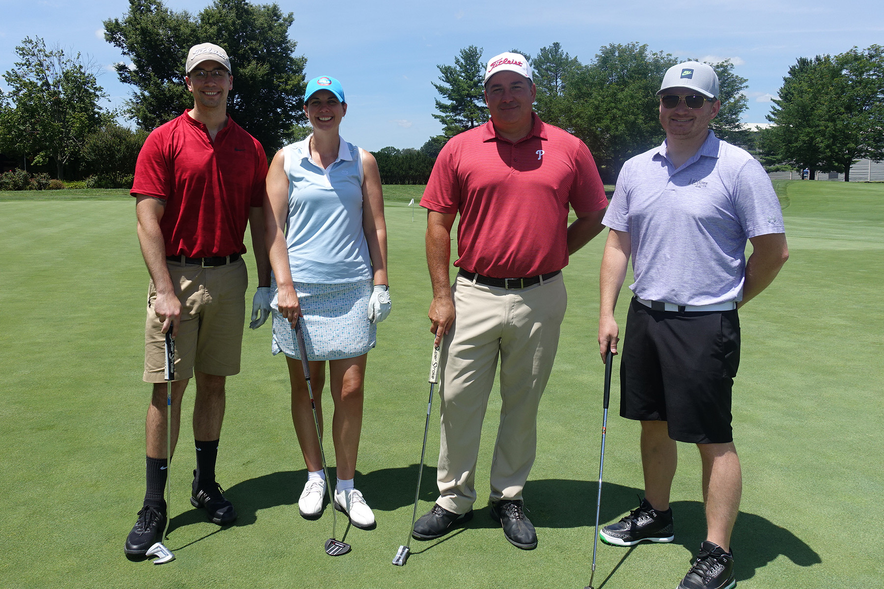 From left to right: Kevin Hancock, Julie Yeager, James Cole and Chris Talley