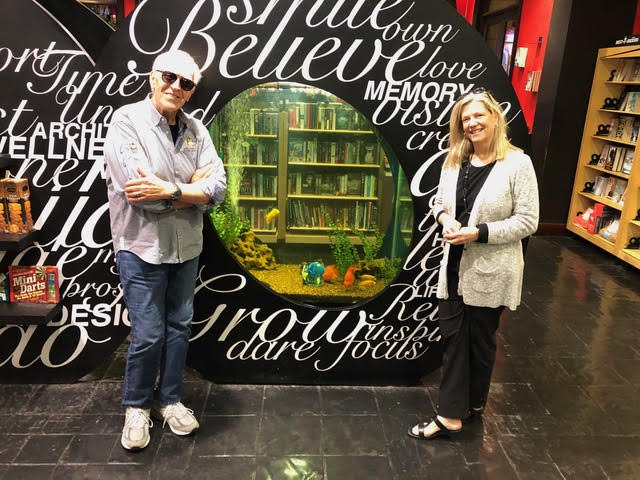 Spencer & Marisa Torrani, Co managing director of cinevation SA, at her book store in Johannesburg, S.A .