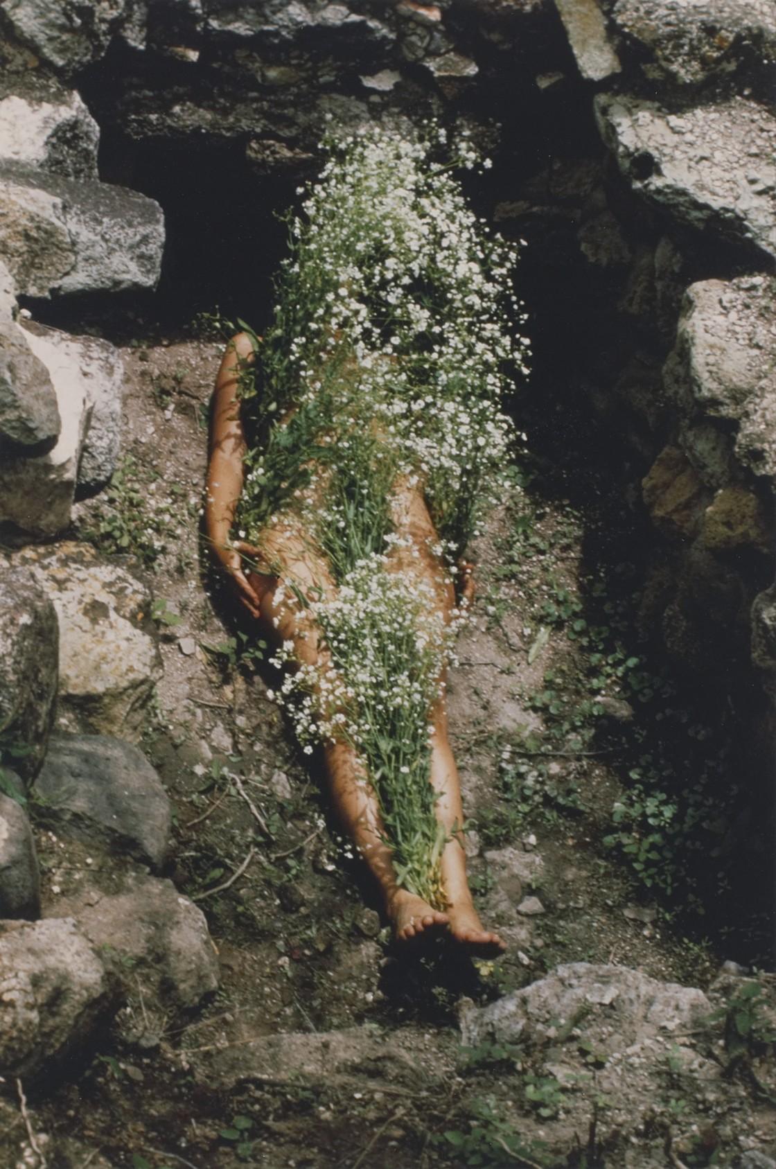 Ana Mendieta,  Imagen de Yagul, from the series Silueta Works in Mexico 1973-1977 , 1973. © The Estate of Ana Mendieta Collection, LLC.