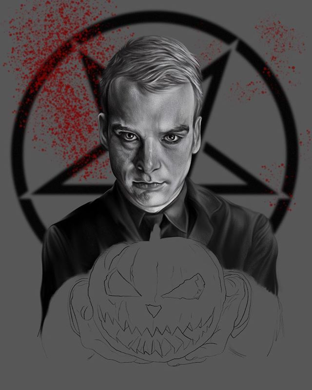 Messing around with a blurred background to make @matttskiba pop out at cha! #stayevil #alkalinetrio #mattskiba