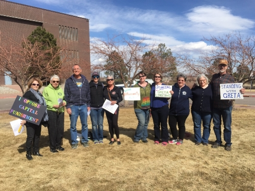 Singing in front of the Arapahoe County Detention Center