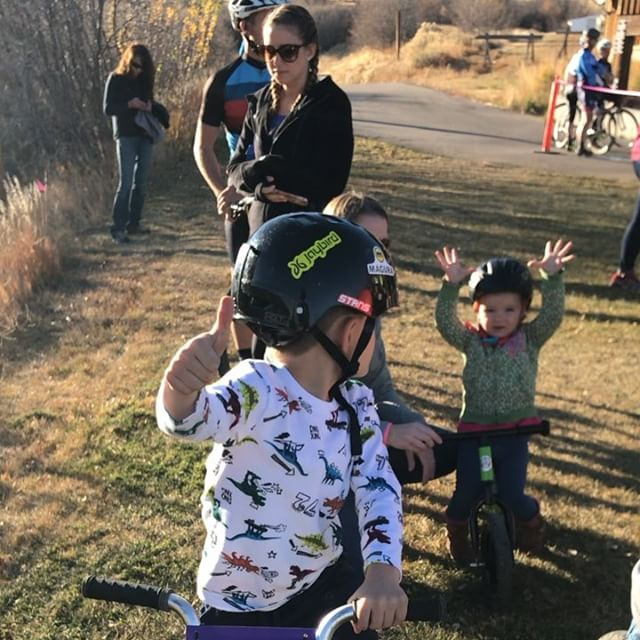 The kids race ended 2017 with a stacked field, golden P-Town goblets, glo-sticks, candy and with tons of STOKE!!! They taught me that if you just run into the barriers enough times, they will fall over and you can just ride over them!!! Brilliant.  #ptowncross #morekidsonbikes #bikes4kidsutah