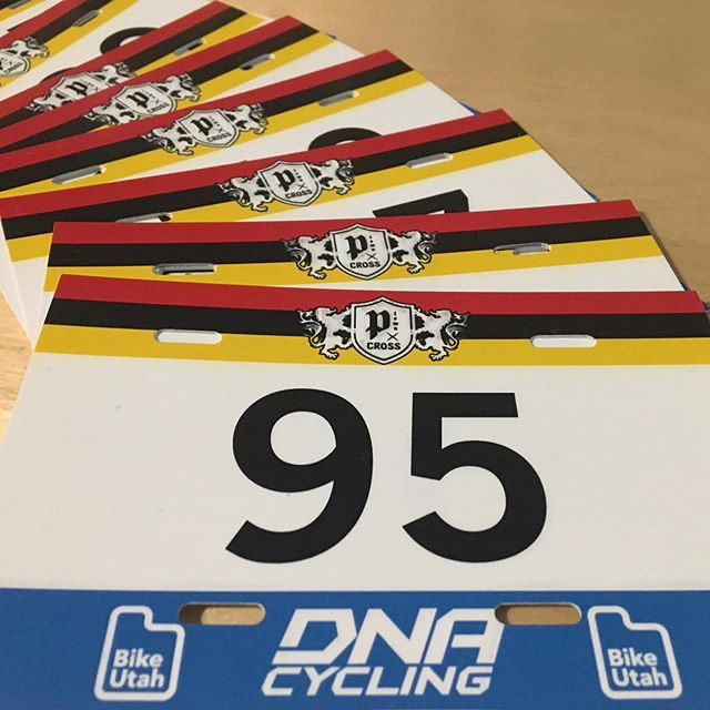 @dnacycling made us some rad little number plates. Number on the front! Always! Race #1 is next Tuesday at #Snowbird!  Pre-register at PTownCross.com. Venue Sponsor: @dnacycling Supporting Sponsors: @iamspecialized @asendnutrition  @bingham_cyclery_peak_fasteners @biketogs Venues: @snowbird @solitudemountain @soldierhollow @euclidtimberframes @ibikeutah #ptowncross #cyclocross #dnacycling #provo #utah #crossiscoming #wasatch #saltlakecity #parkcity #hebercity
