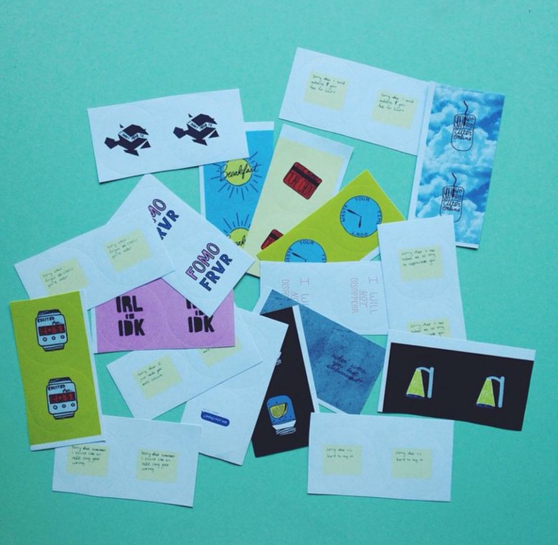 #7 - Various small illustrated stickersApril 2015