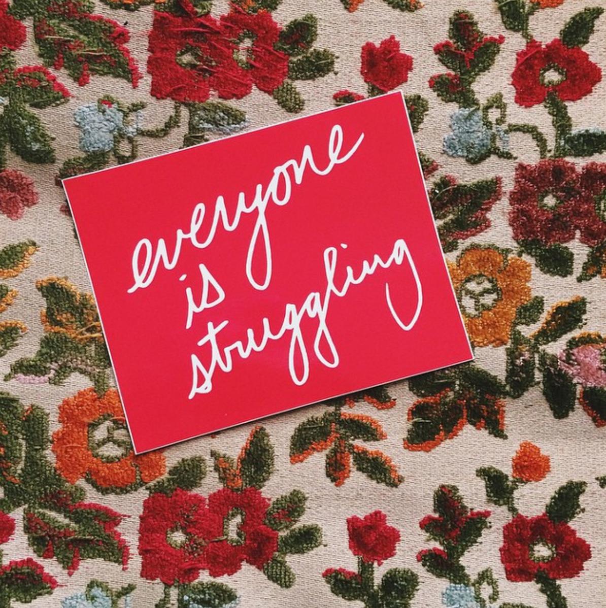 #1 - Everyone is struggling stickerOctober 2014