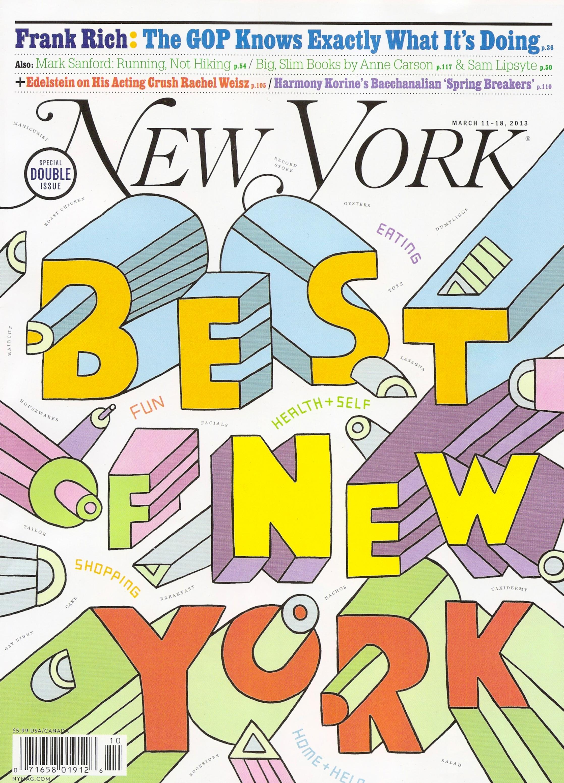 NEW YORK MAGAZINE BEST OF ISSUE