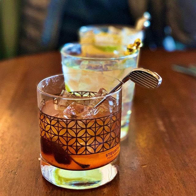 Just some friends playing with their cocktail stirrers... Thanks @steubens_arvada bartender extraordinaire @gravel.inna.shell for the tasty and inspired libations.  #threesacompany #playwithyourcocktail #originalhipstirrer #golfclub #pineapple #fleurdelis #cocktails #craftcocktails #bar #bartender #mixology @elle__are @bijuthechef @alignlifestylemanagement @littlecurryshop