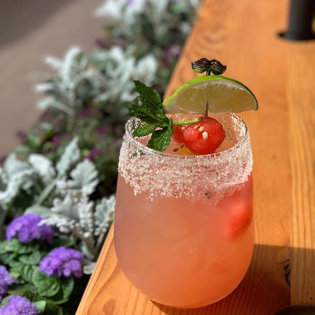 Congrats @urbanbeets on your Grand Opening in #oldetown Arvada! Celebrating with a @montanyarum watermelon mojito 🍉🍉🍉 #originalhipstirrer #playwithyourcocktail #mustache #cocktailpicks #garnishgame #arvada #mojito #rum #vegan #juice #juicebar