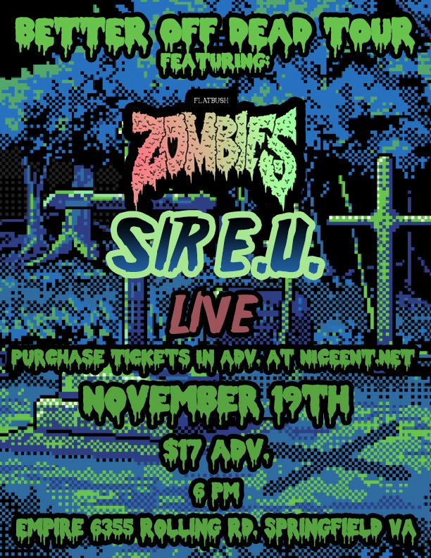 Yo! so stars align here as one of our fav artist @sireuthegr8(@sireuthegr8) performs manana w/ rap group Flatbush Zombies. See here's whats weird about it; I am based out of Flatbush NY, & EU is one of our fav acts. (Just to reiterate that). So yeah stars align, take my word for it ;P  Anyways if you are in the DC/MD/VA area you should def go see this…! Like EU puts on a hell of a show. Just youtube em & prove me right!   - Py   chrispyratearts