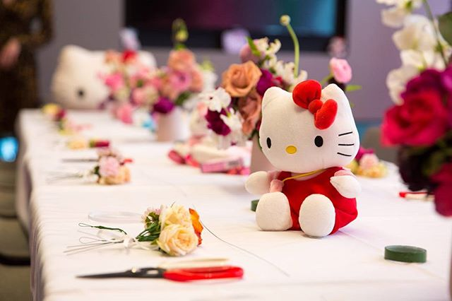Photography for Hello Kitty @hellokittyeu #hellokittygang high tea at @QTMelbourne. Image: Flower crown workshop station. . Album on www.jamonyourcollar.com.au, link in bio. . @jam.on.your.collar.photography @stylecounselpr @toriallen_events @iscreamnails @alicehoney @leblondefox @felixandscott @cuppyandcake @kerrytangy @taramilktea @katehannah @shanchansen @therubycanvas @alexiapetsinis @simple.blanc @thegirlwholivedforclothes