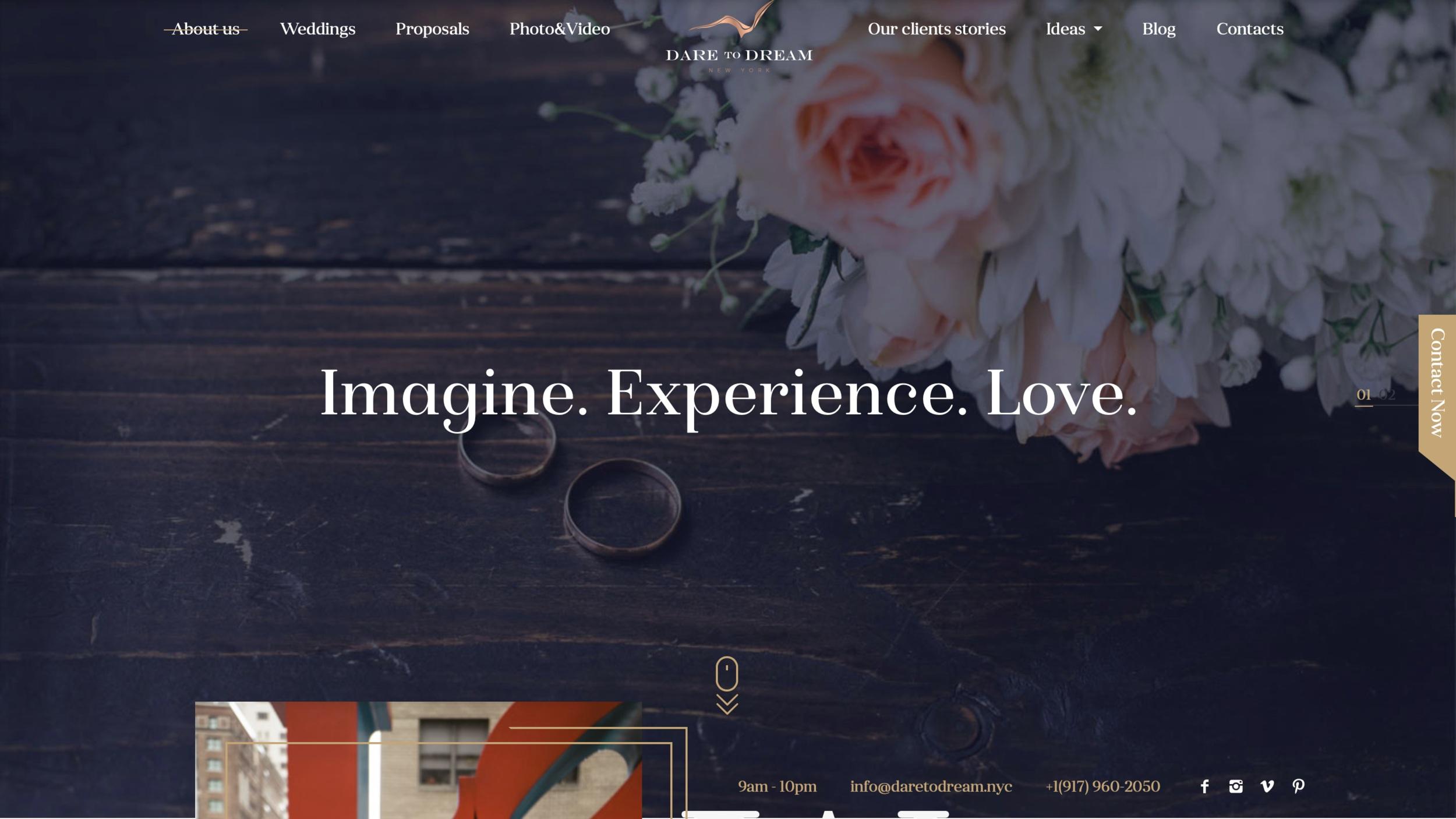 Wedding industry's best web design & marketing agency.
