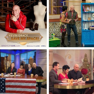 "Interior Designer Kevin Grace talks thru the design features he used in the ""Kevin Grace Save My Space!"" room makeover contest on Windy City LIVE - December 2012"