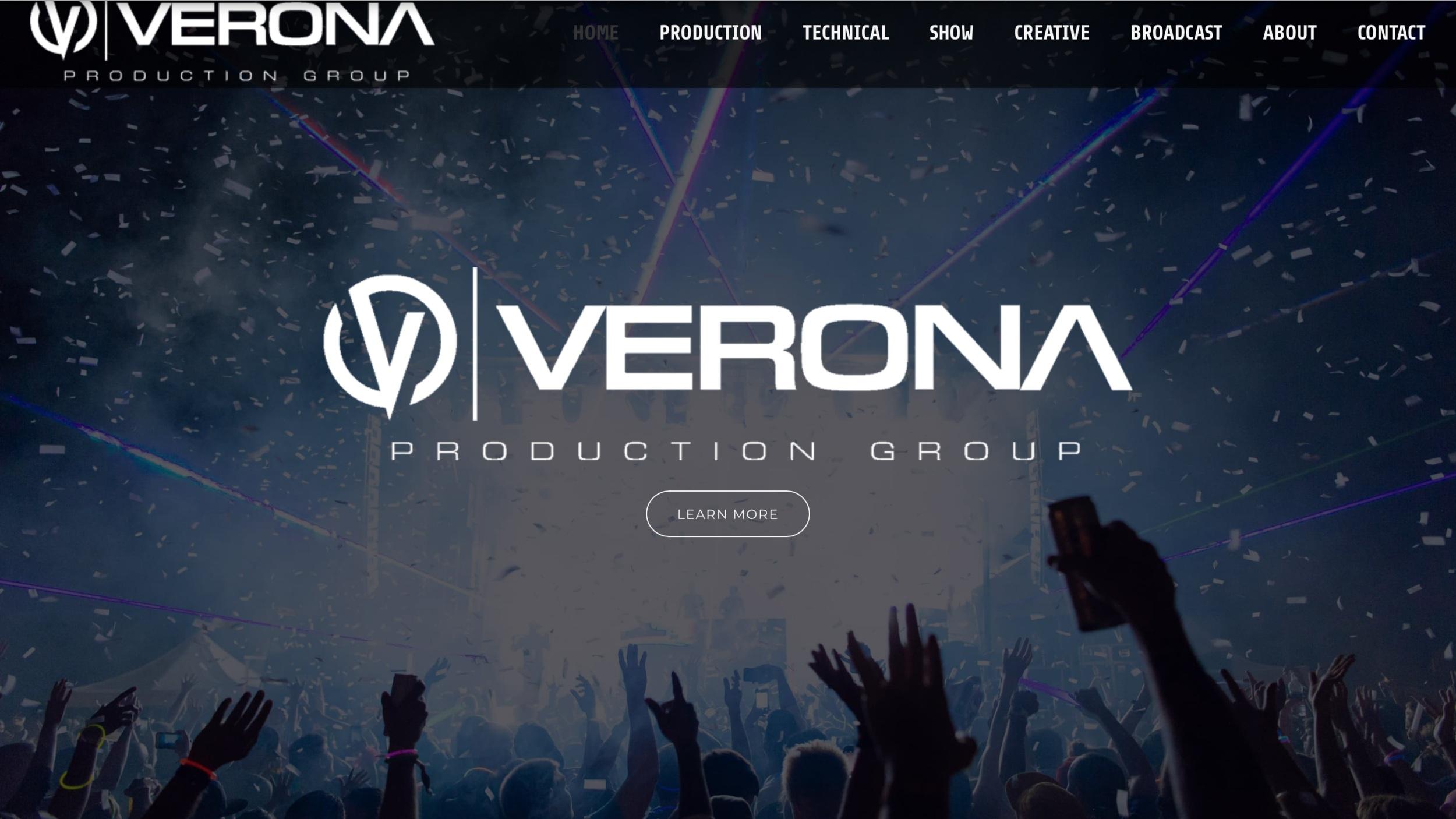 Web design for video production company Verona Production Group  http://veronapro.com