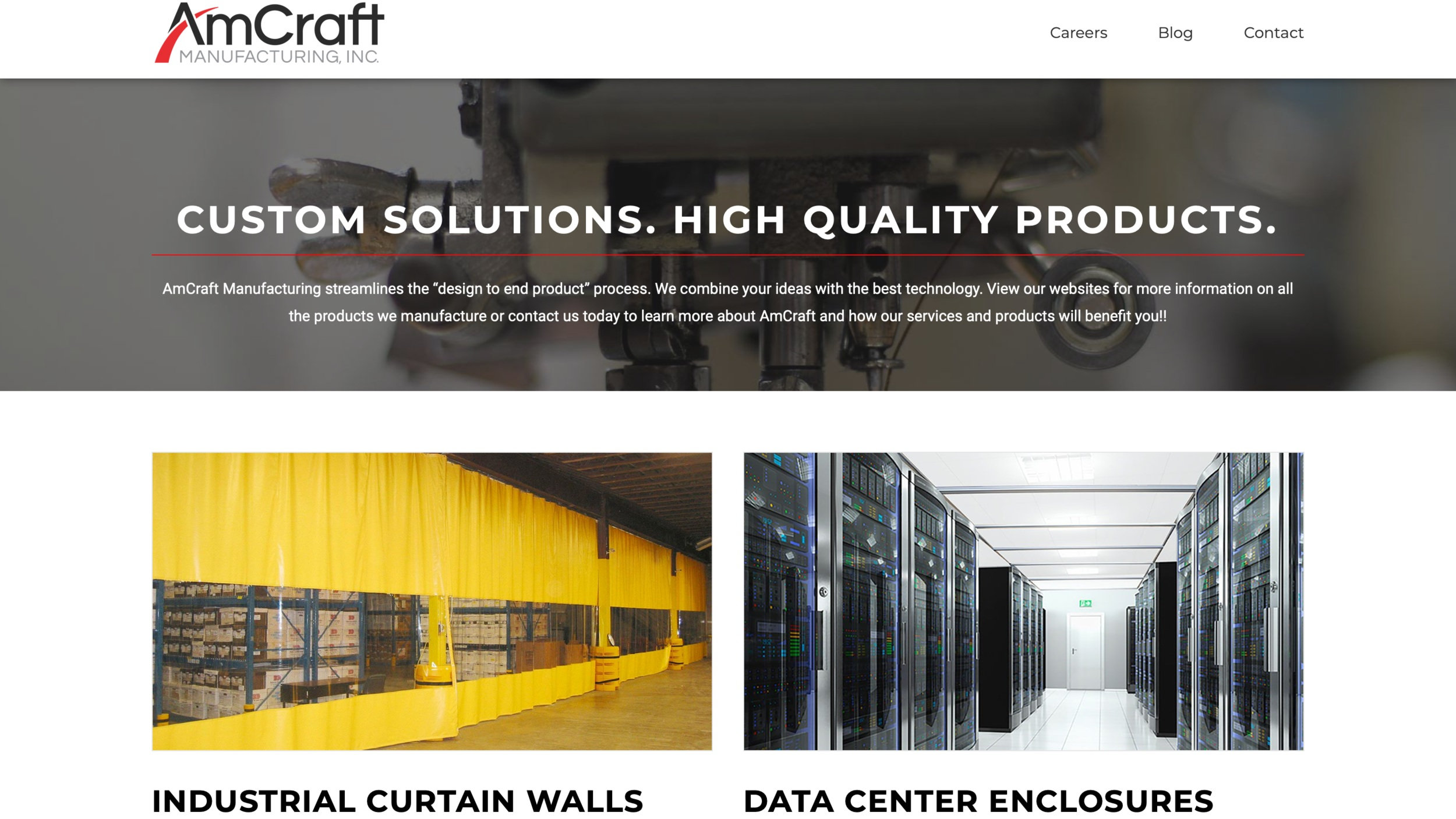 Small business digital marketing for industrial and manufacturing industries. https://www.amcraftmanufacturing.com
