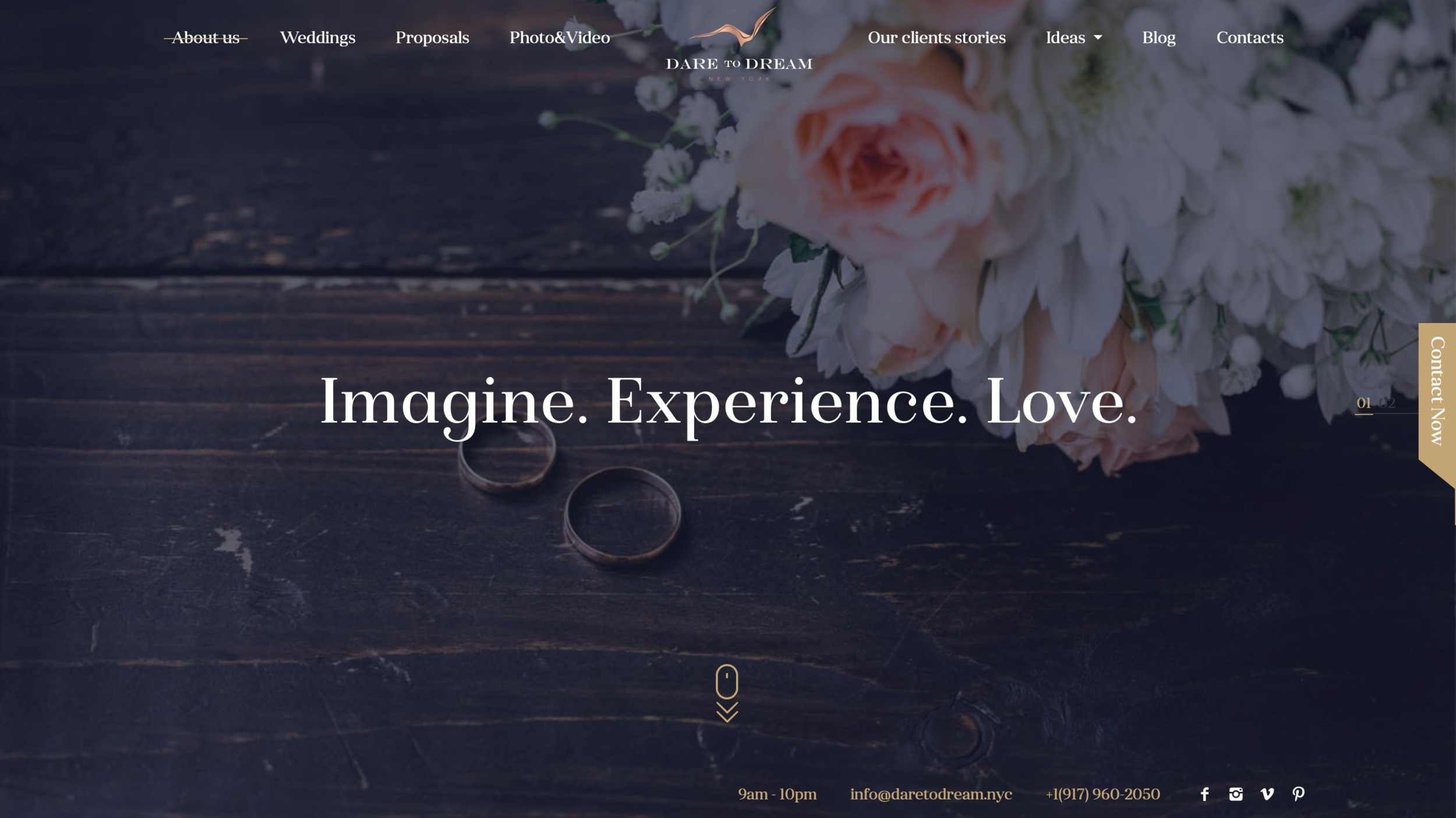 Dare to Dream NYC best digital marketing for the wedding industry.  https://daretodream.nyc  Website design and creative copy.