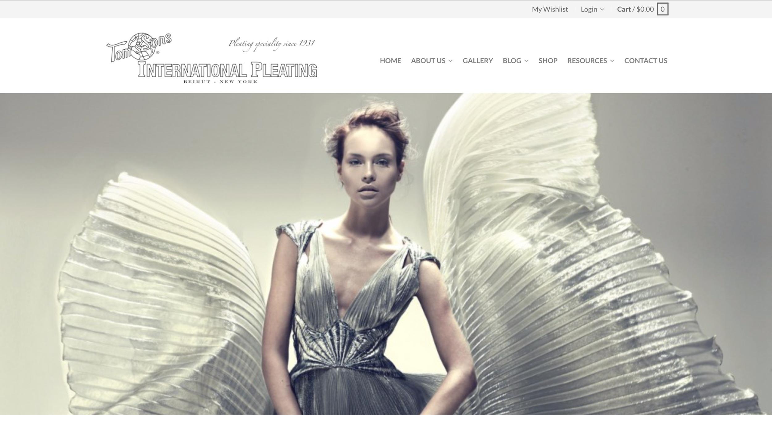 Small business marketing for wedding and fashion industries. International Pleating https://www.internationalpleating.com