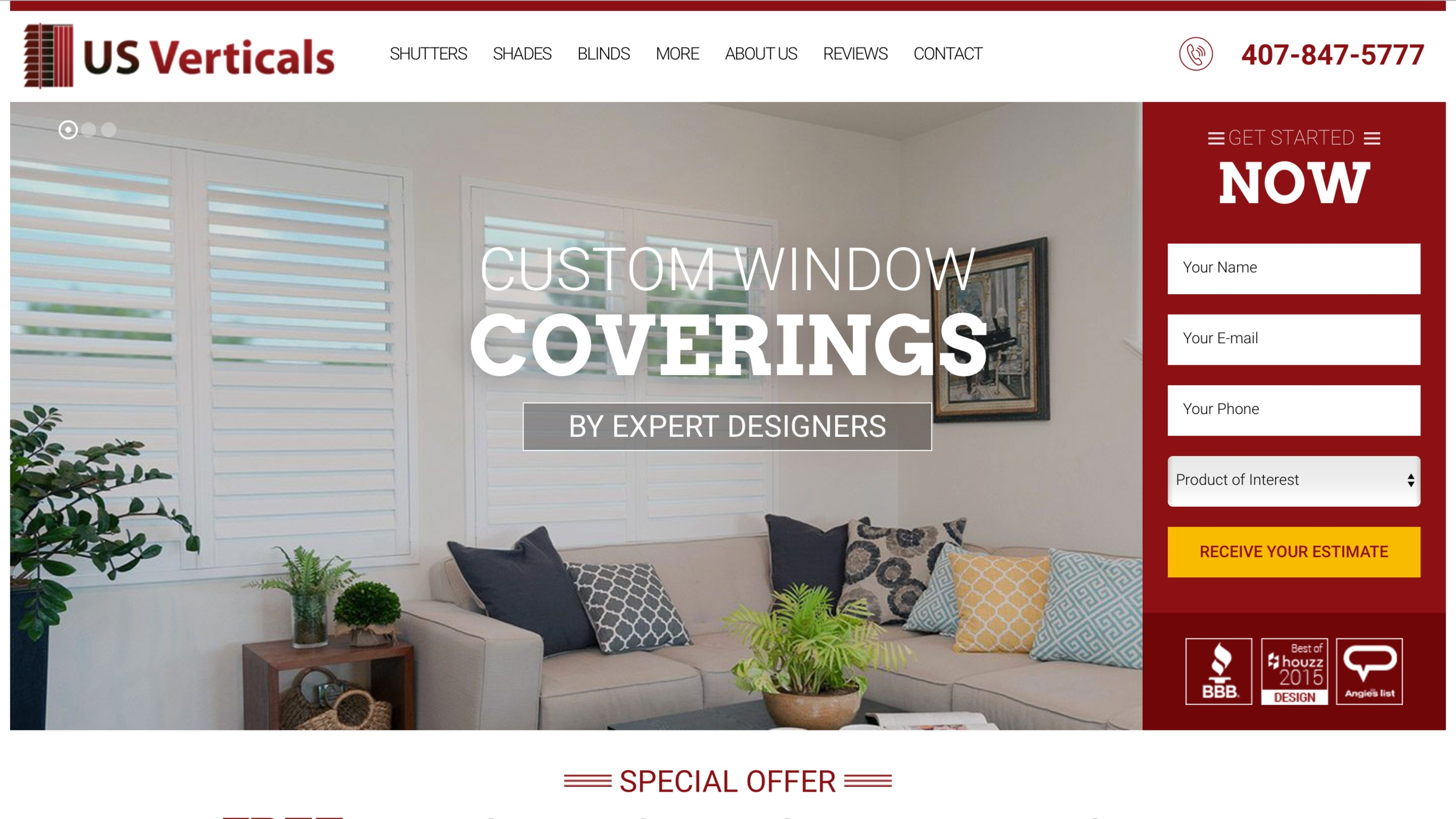 US Verticals  https://usverticals.com  Marketing communication for small businesses in the home services and home decor industries.