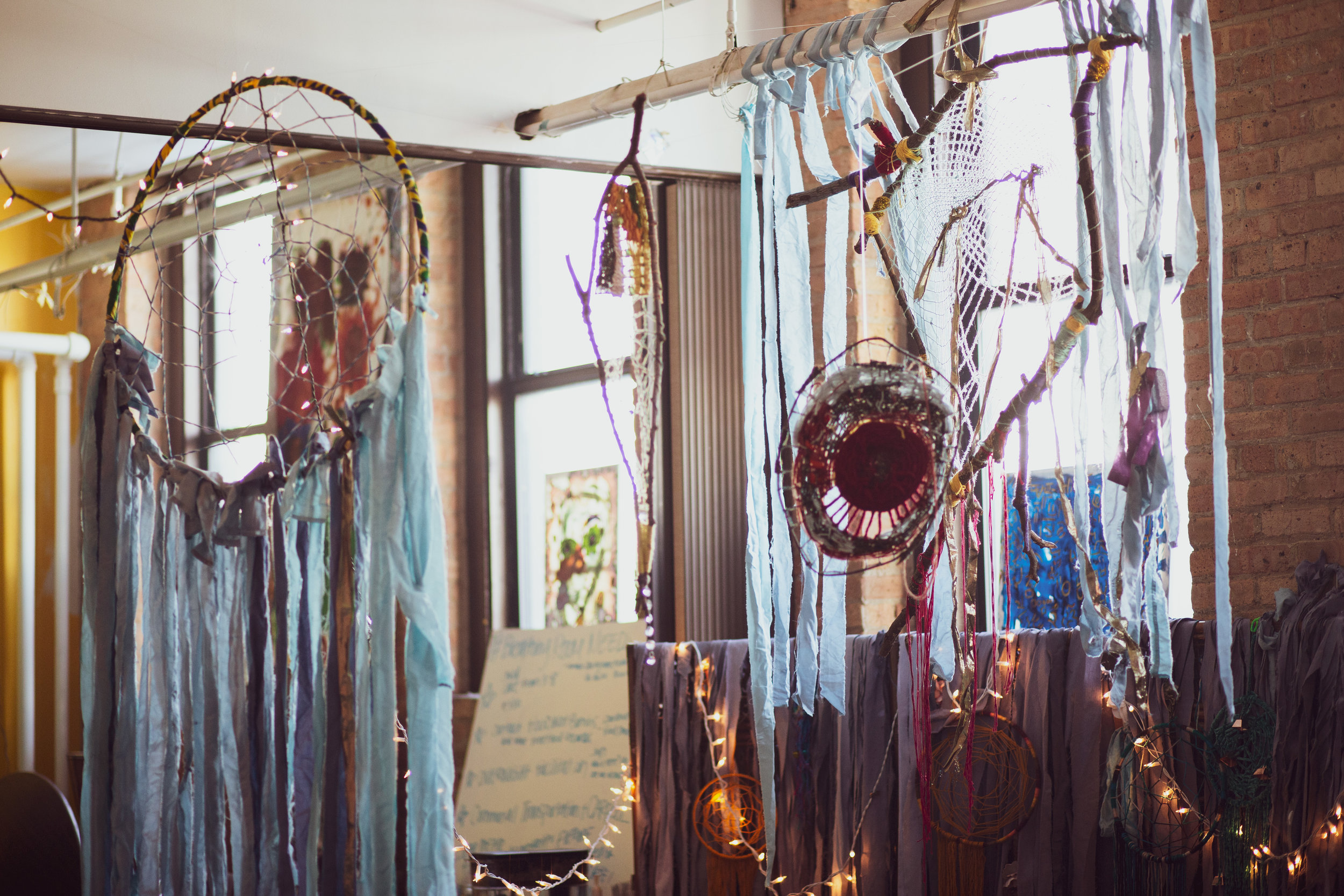 Dream weaving installation for Eclipsing Festival opening ceremony January 2019