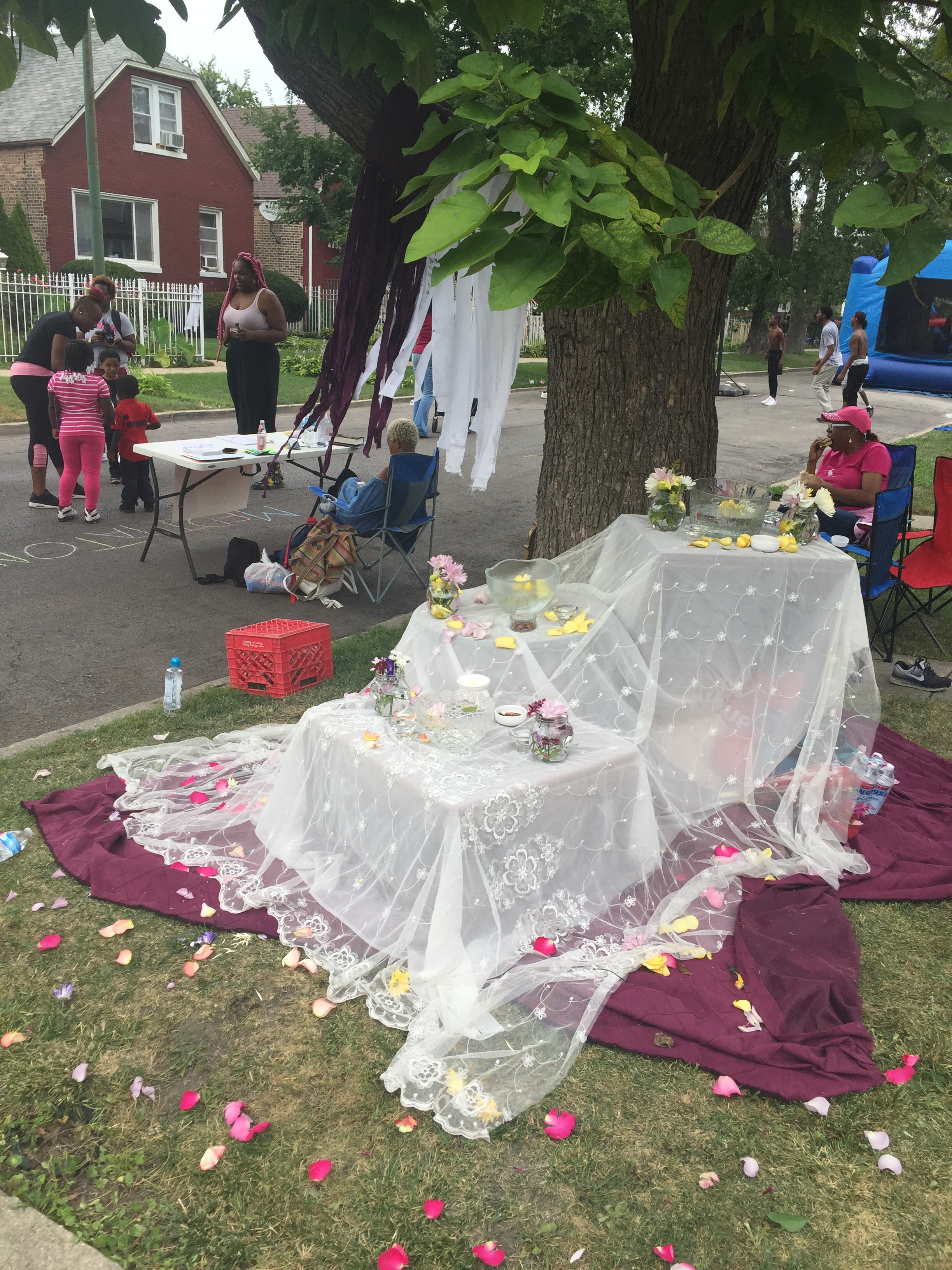 Interactive community remembrance altar for back to school block party June 2017