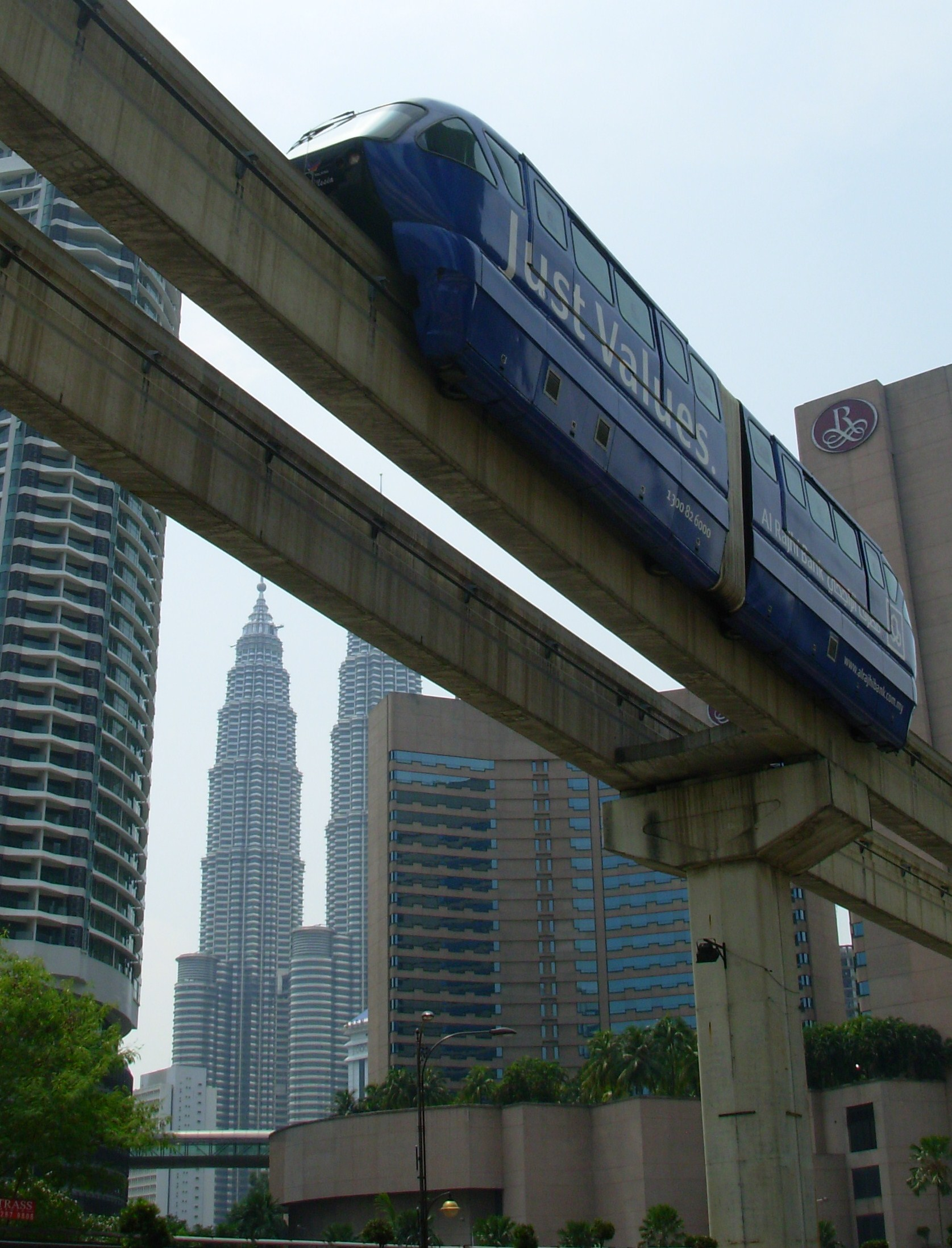 Petronas Towers and KL monorail