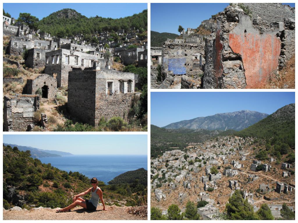The ghost town of Kayaköy, Turkey