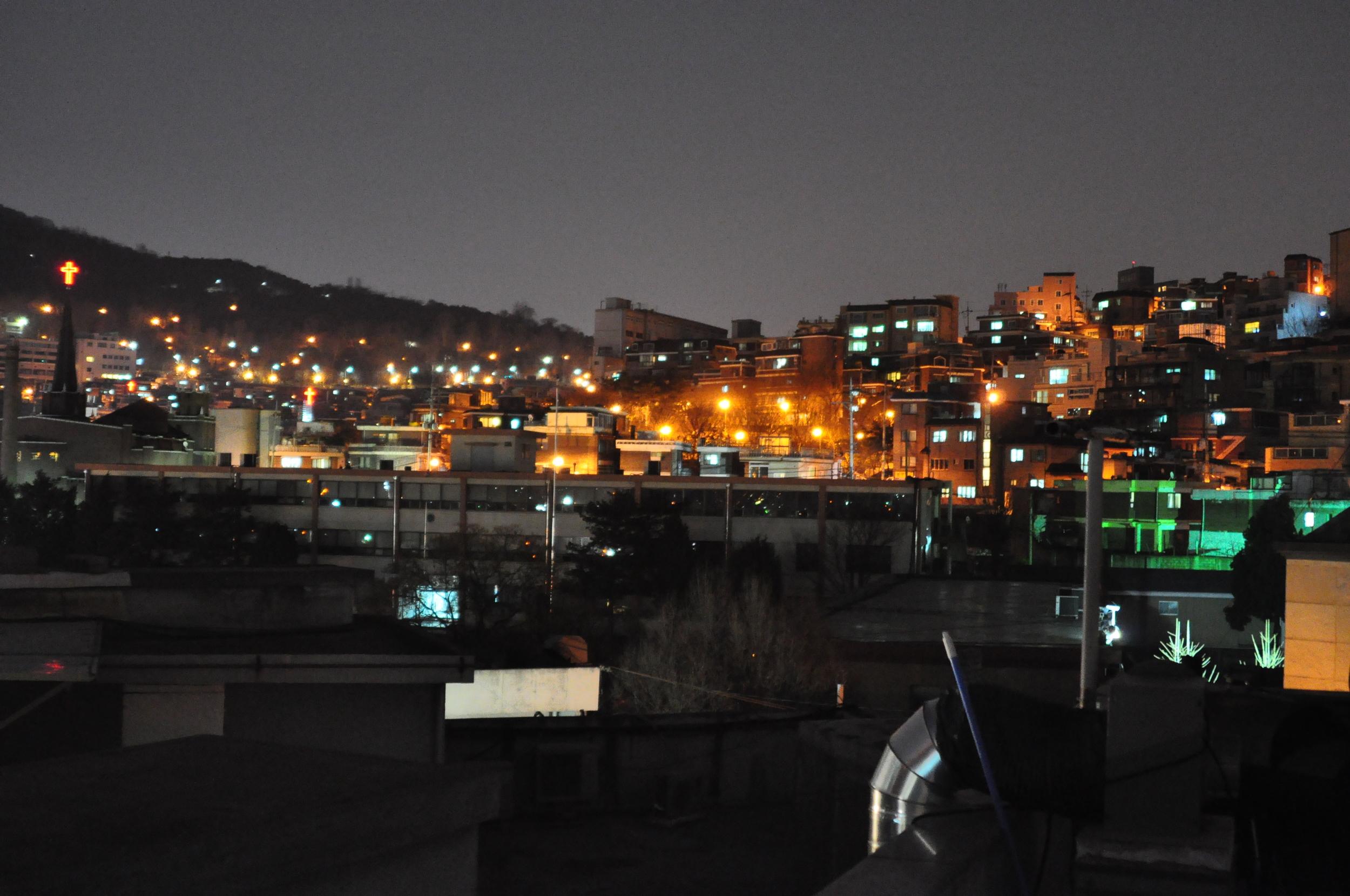 Seoul's skyline during Earth Hour 2009