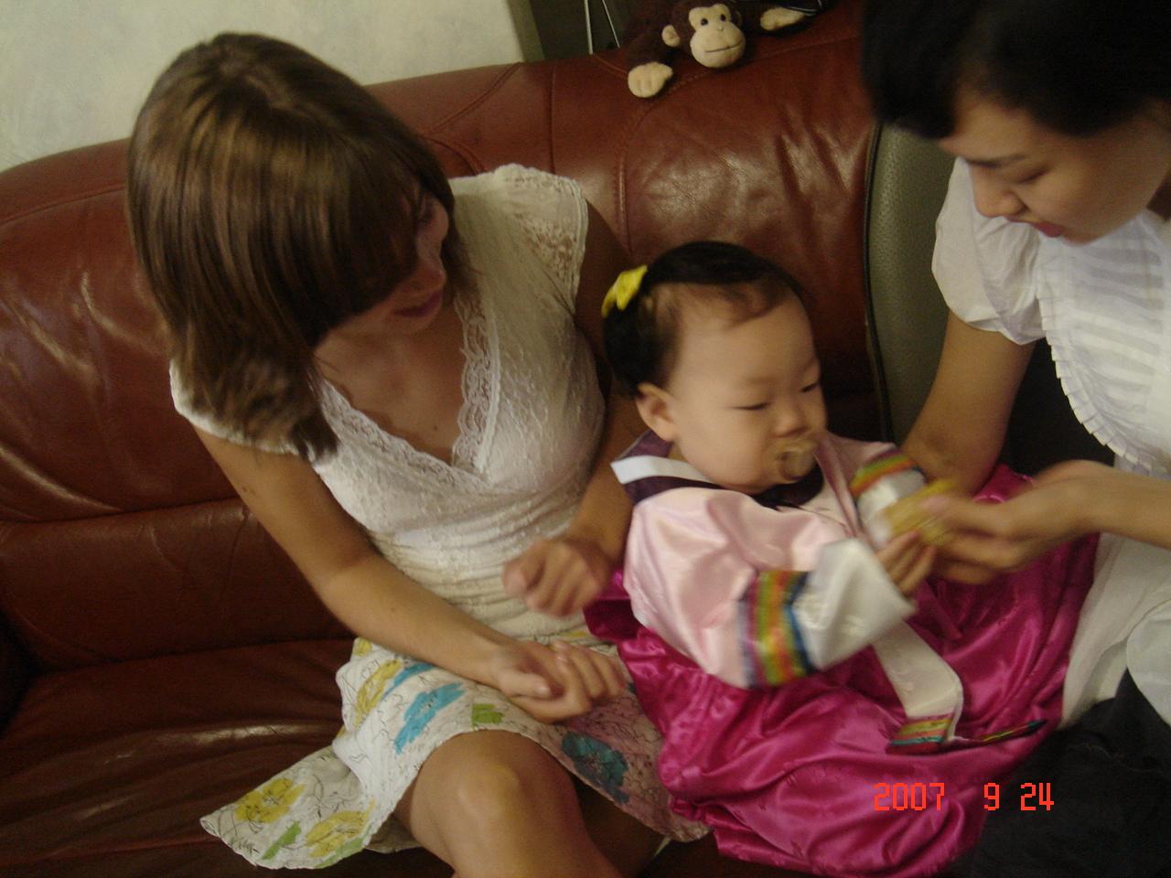 child wearing Hanbok for Chuseok