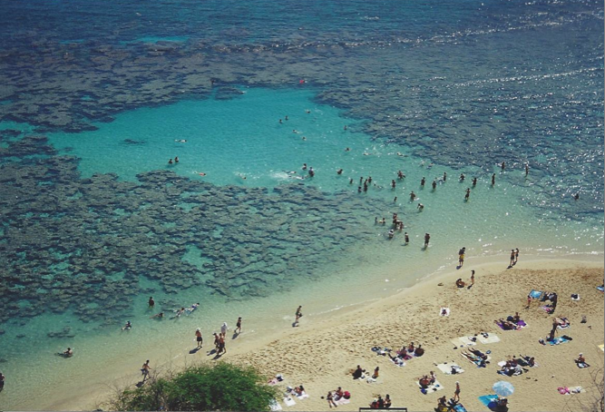 Hanauma Bay in 2000