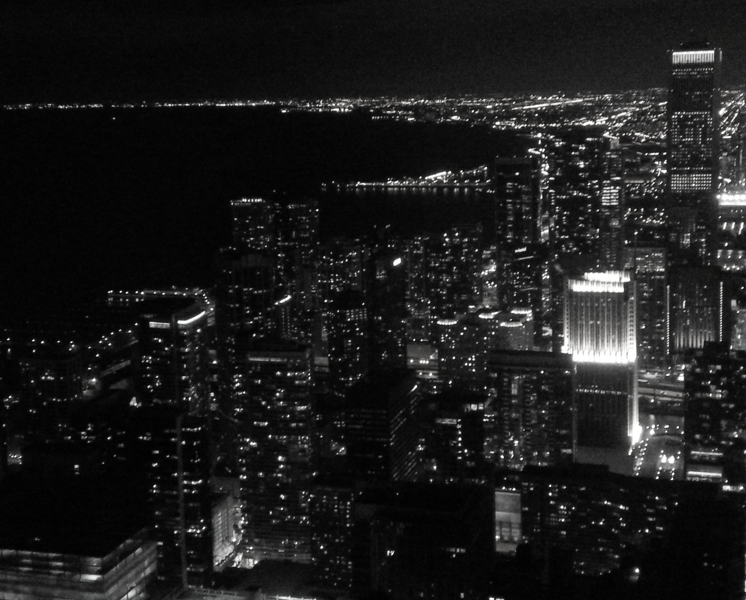 Chicago skyline from the John Hancock Observatory (now: 360 Chicago)