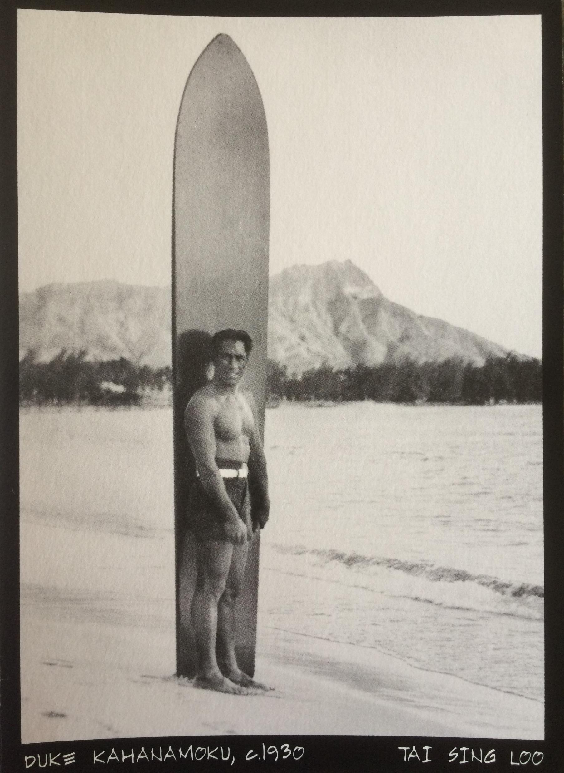 Duke Kahanamoku at Waikiki Beach, circa 1930