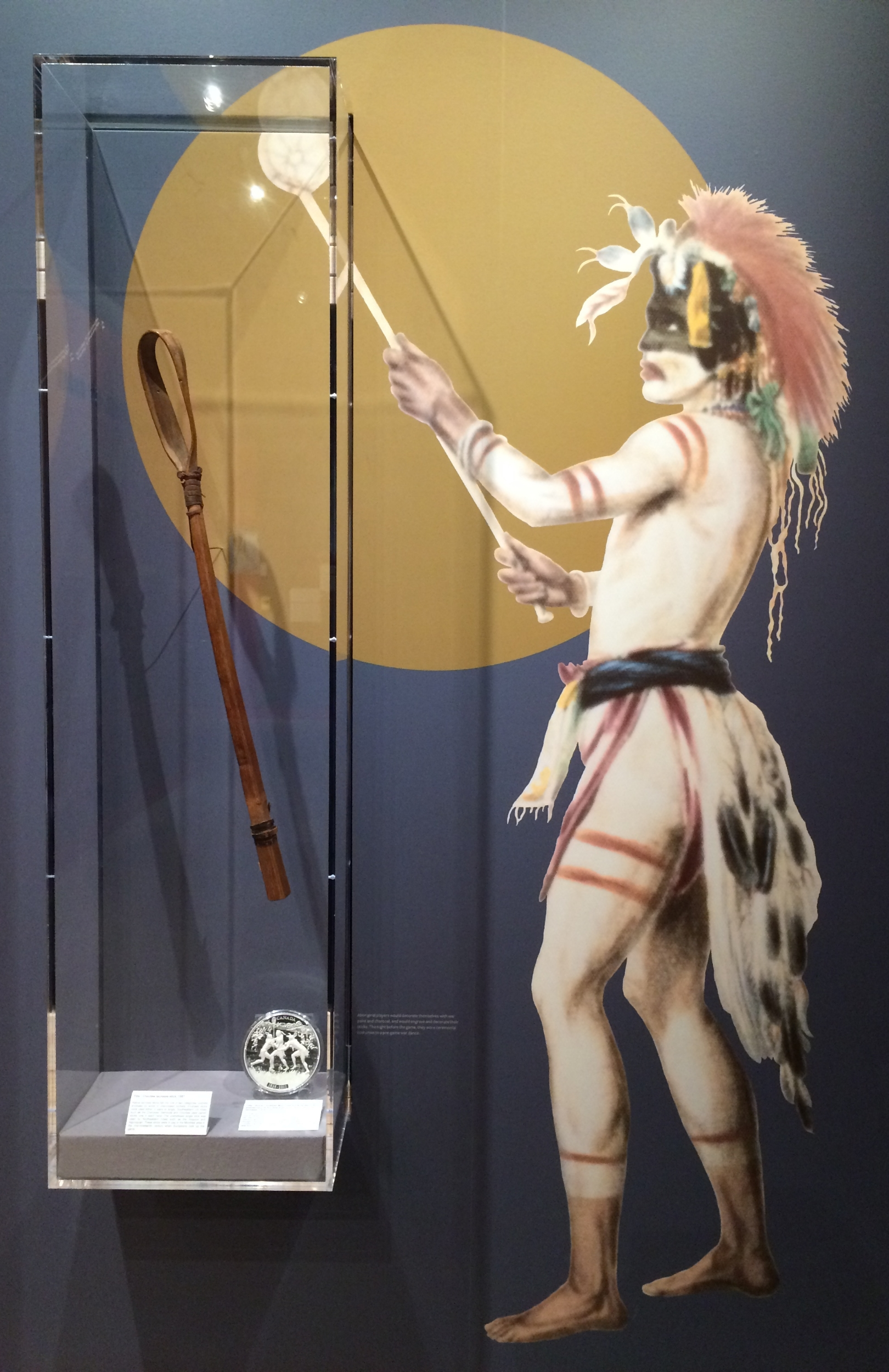 One of the exhibits at the Canadian Lacrosse Hall of Fame, New Westminster