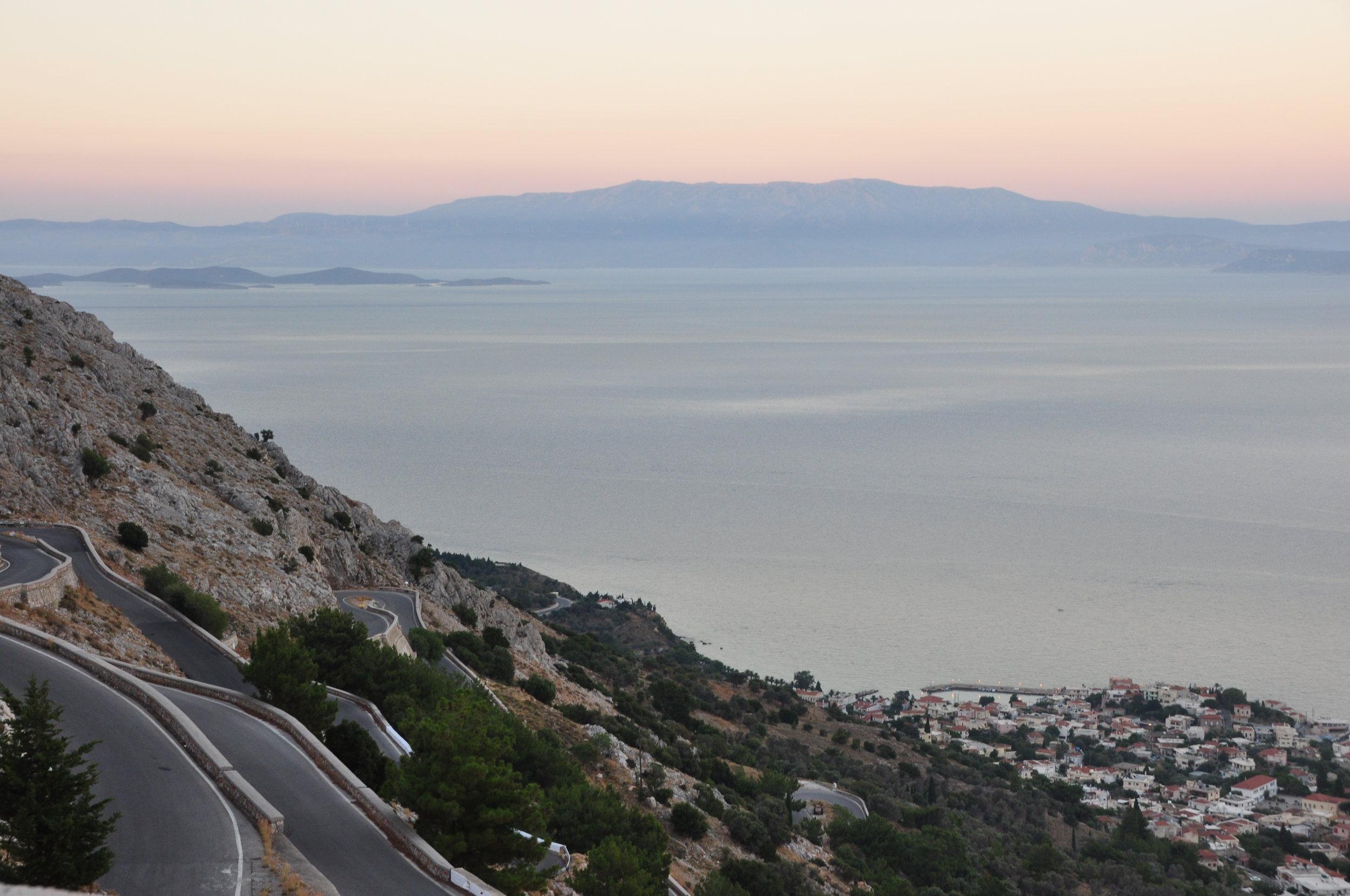 The east coast of Chios island