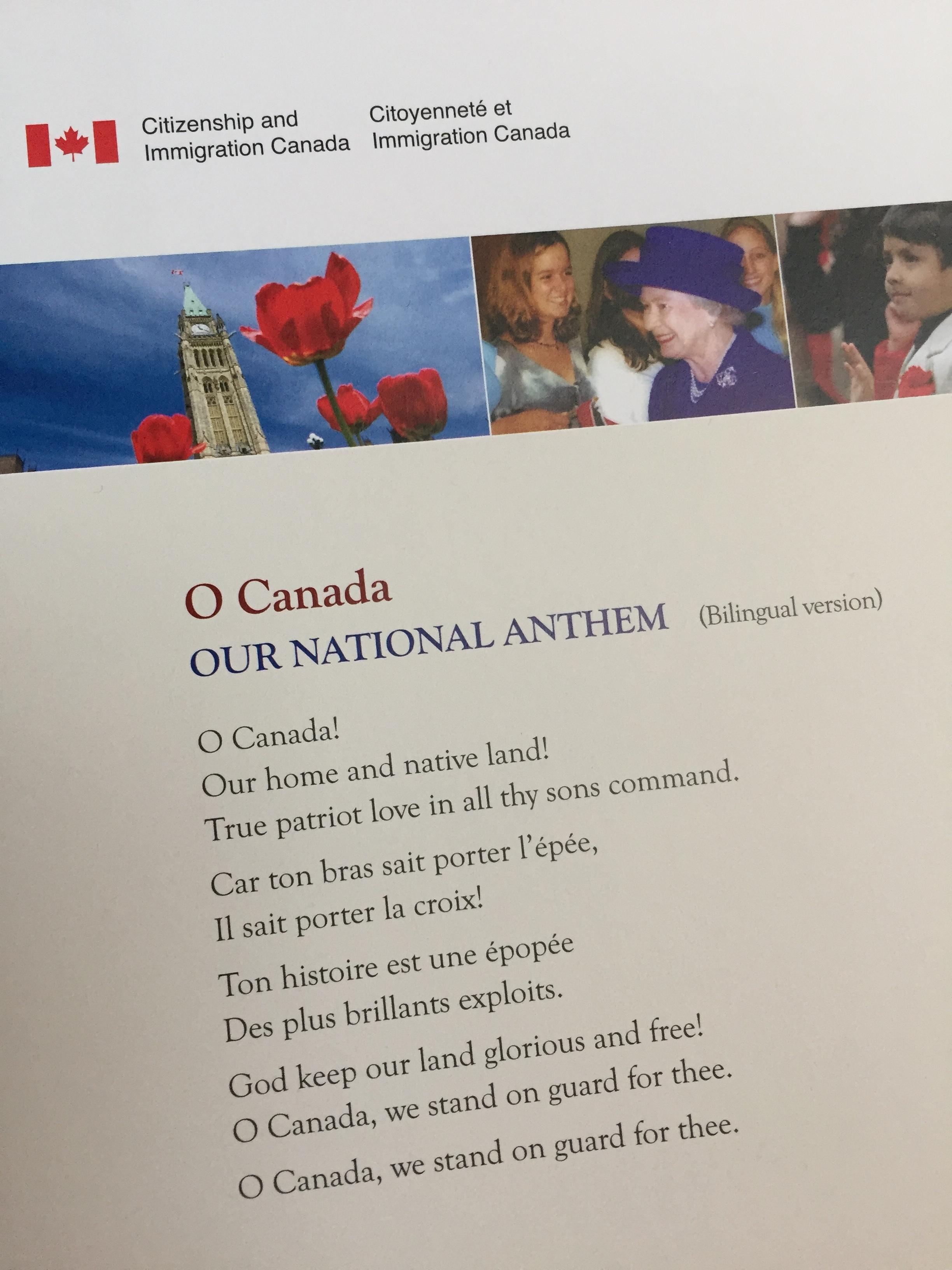 Canada's national anthem