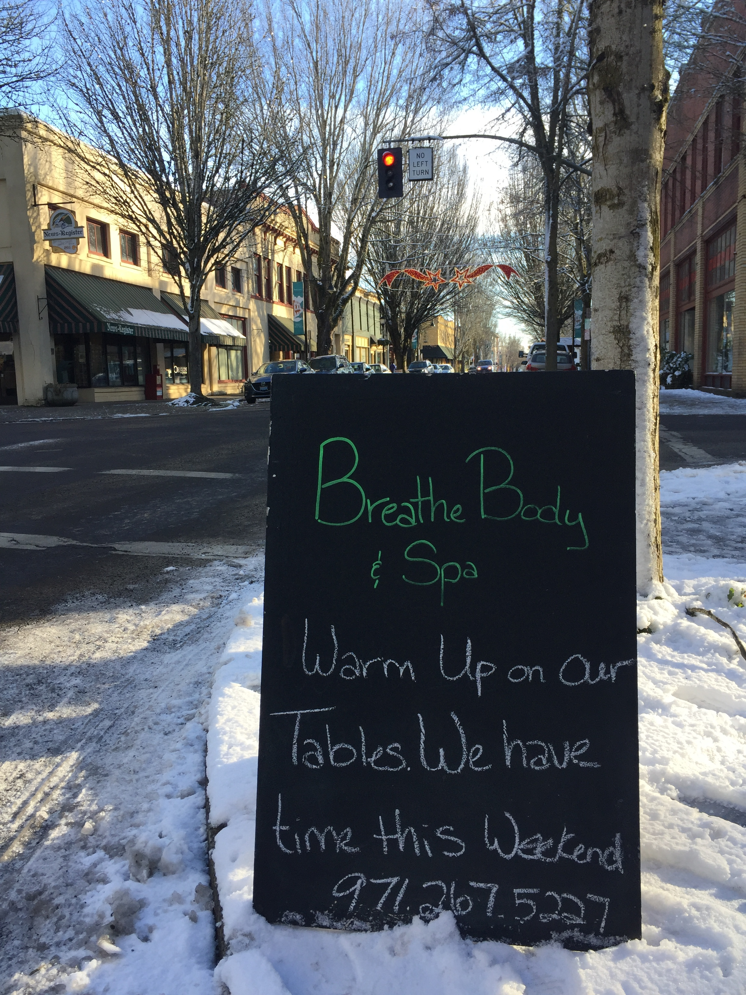 Downtown McMinnville Warm Up Massage Heated Tables Hot Towels