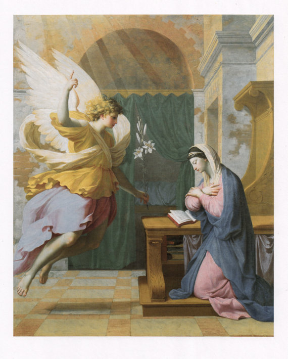 "Eustache Le Sueur, ""The Annunciation,"" c. 1650"