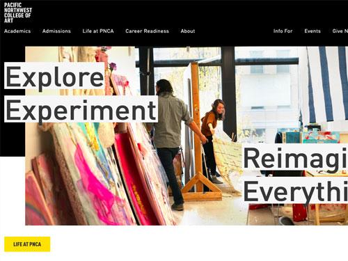 Pacific Northwest College of Art Website
