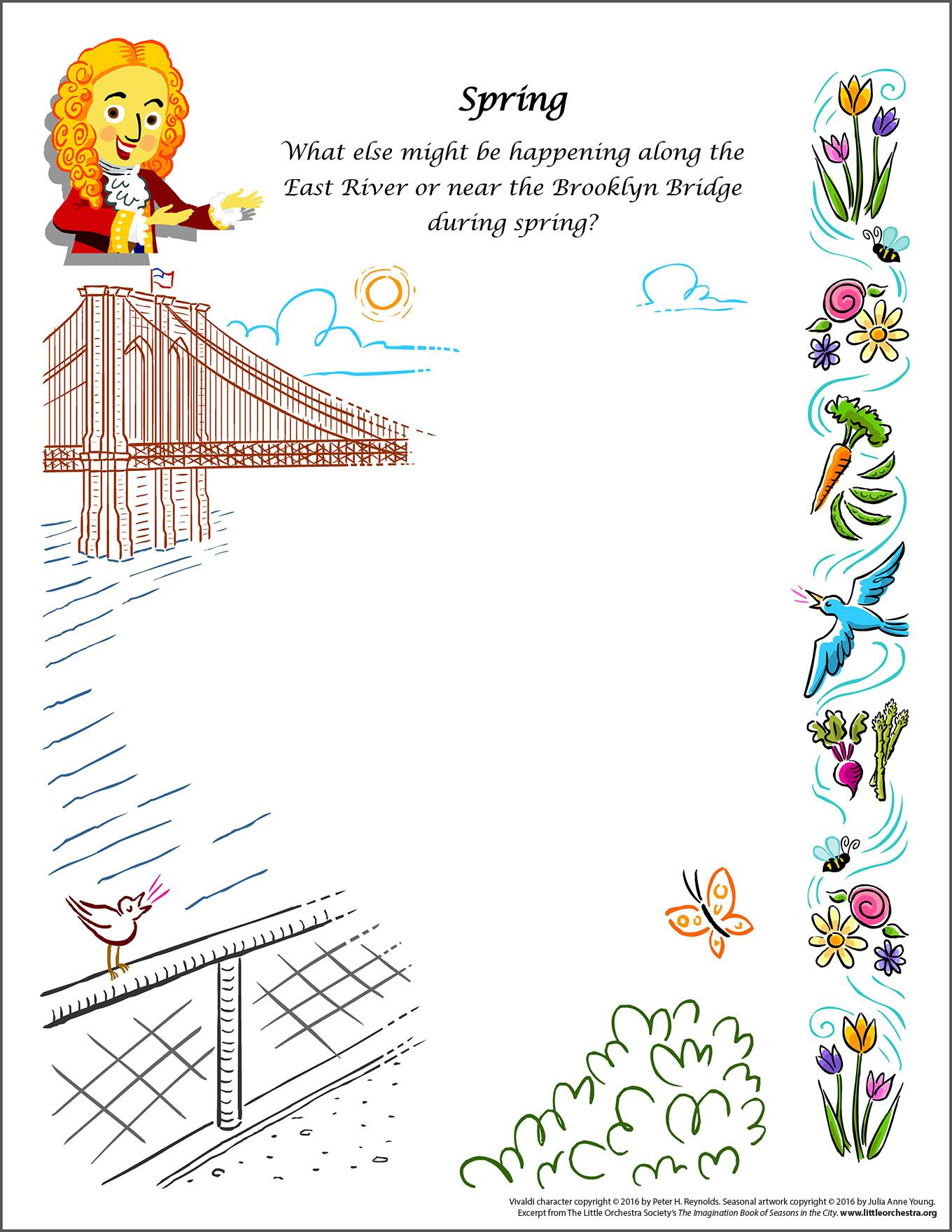 The Brooklyn Bridge in Spring