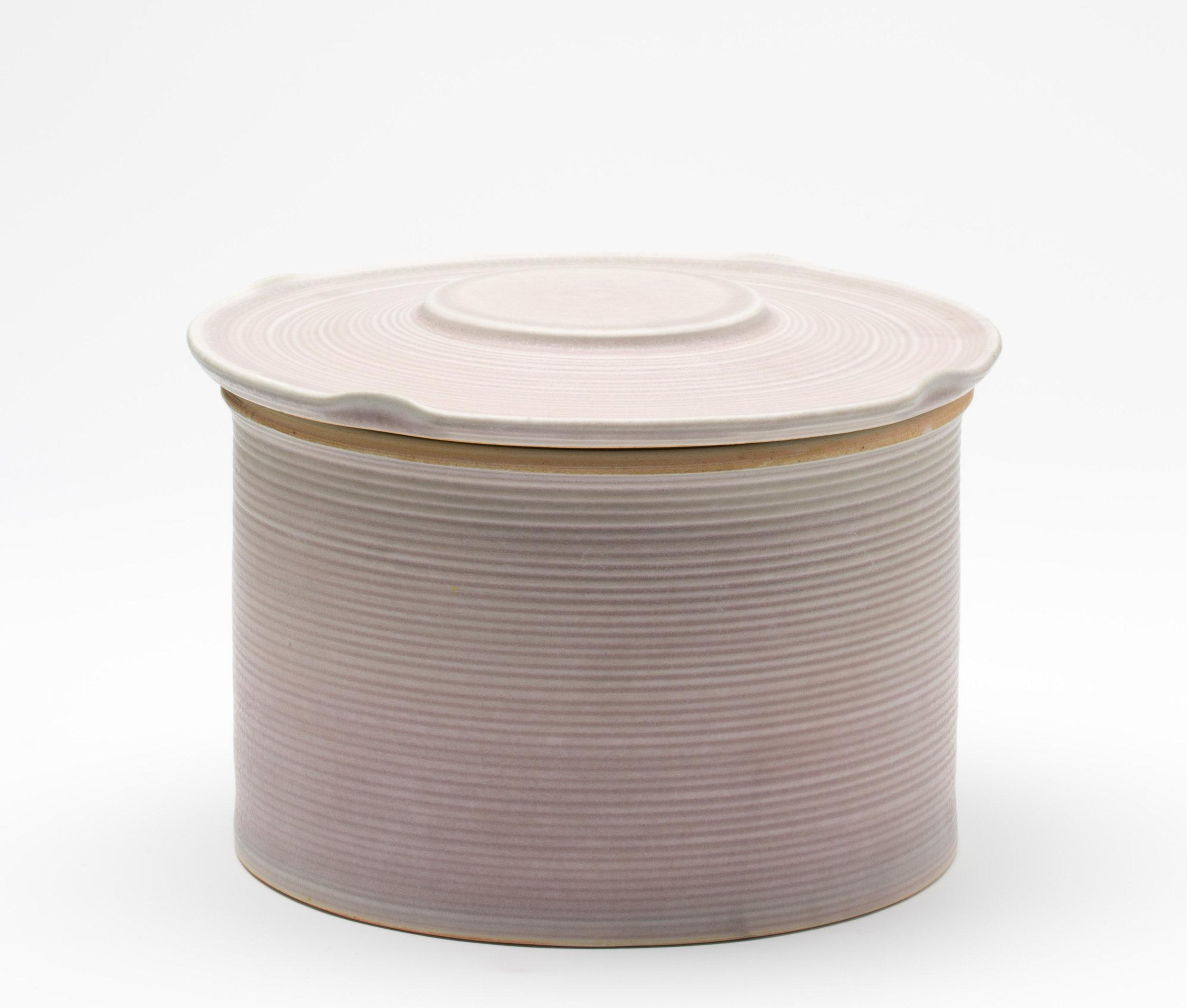 """Jar  Cone 10 Reduction Porcelain  8"""" W x 8"""" H  2016"""