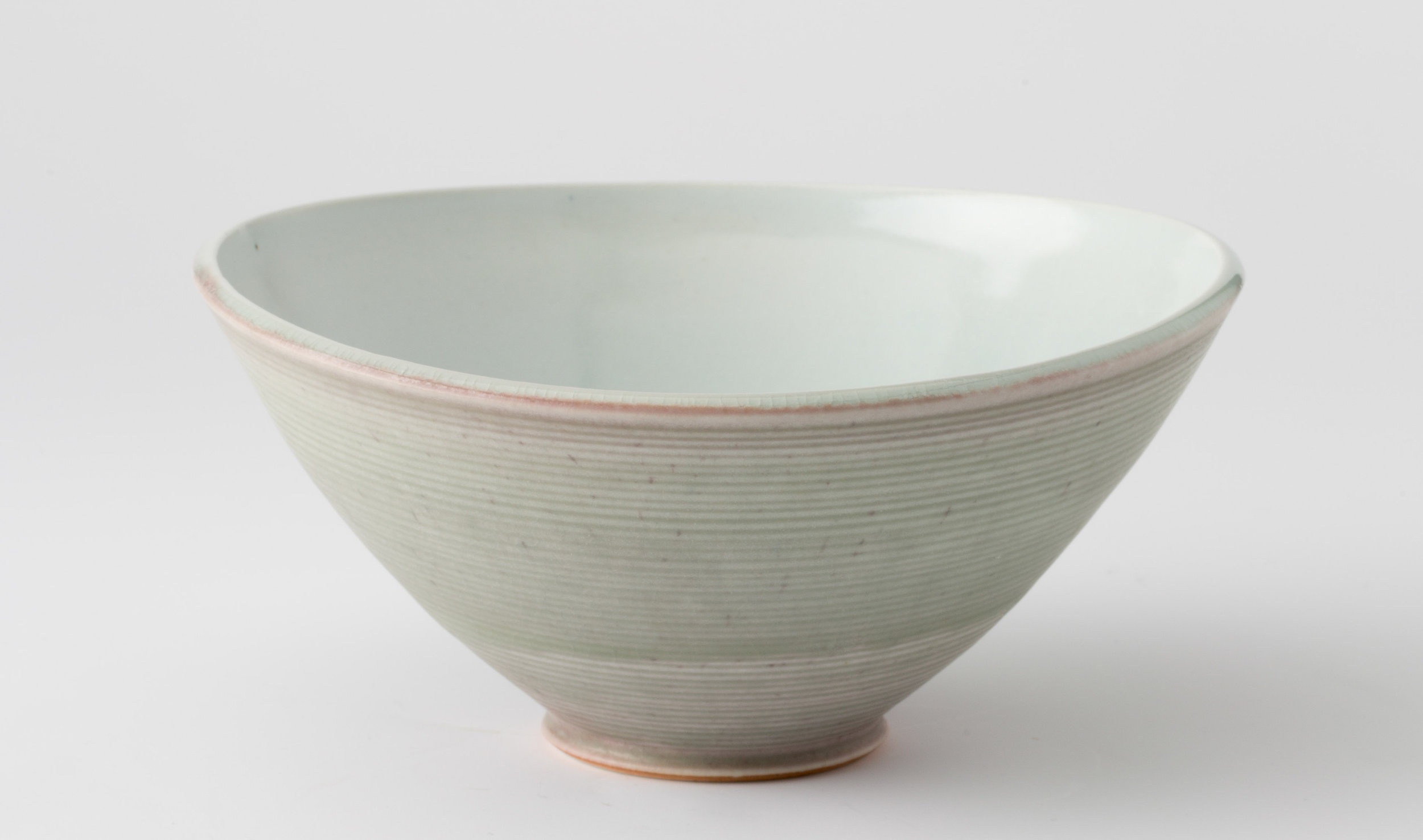 """Oval Bowl  Cone 10 Reduction Porcelain  6"""" W x 7"""" H  2016"""