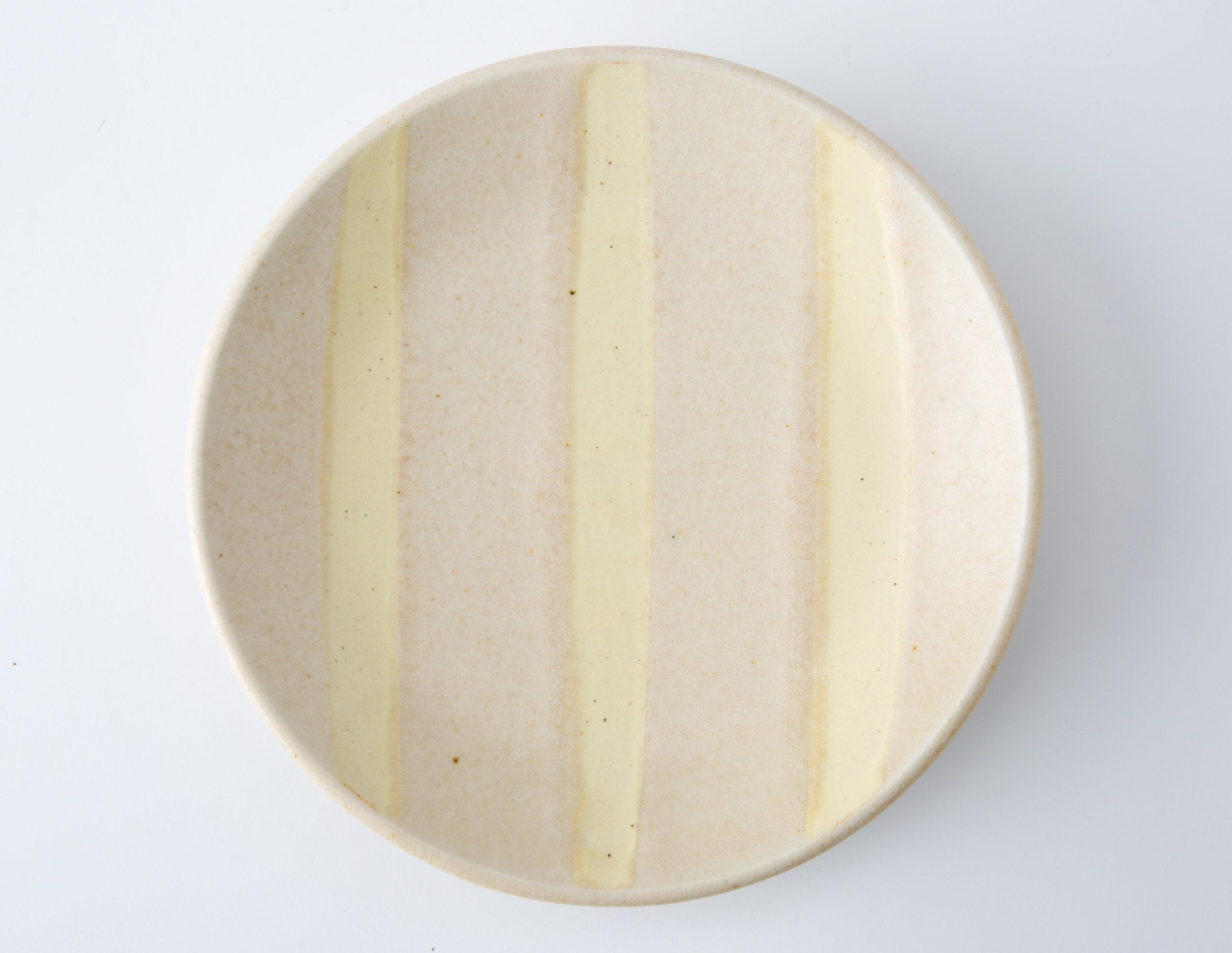 "Bread Plate  Cone 10 Oxidation Porcelain  6.25"" W x 1.75"" H  2016"